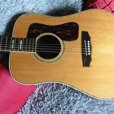 Rare Vintage Kiso Suzuki Dreadnought D55 Replica c.1974 Natural MIJ Japan! (after the Guild style) for sale