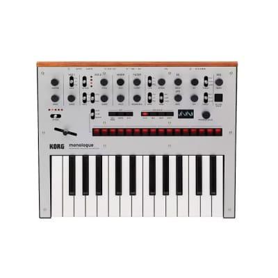 Korg Monologue Silver- Monophonic Analogue Synthesizer [Three Wave Music]