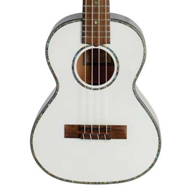 Lanikai JMS-AWT2 Julia Michaels White Pearl Tenor Signature Ukulele w/ Gig Bag