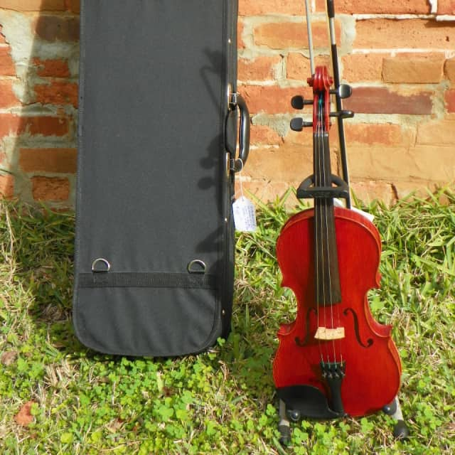 Very Nice Ready To Play Pre-Owned 4/4 Violin w Case Bow Shoulder Rest & Rosin Scott Jackson Alachua image