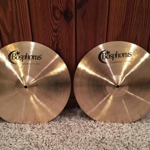 """Bosphorus 15"""" Traditional Series Dark Hi-Hat Cymbals (Pair)"""