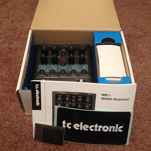 Tc electronic nm-1 nova modulator multi-effects guitar effect.
