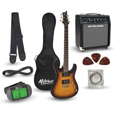 Mitchell MD150PK Electric Guitar Launch Pack with Amp Regular 3-Color Sunburst for sale