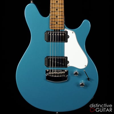 Ernie Ball Music Man James Valentine Signature Guitar w/Trem -  Roasted Maple Neck- Toluca Lake Blue for sale