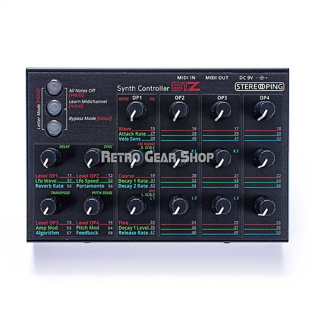 stereoping ce 1 81z midi controller for yamaha tx81z tx 81z reverb. Black Bedroom Furniture Sets. Home Design Ideas
