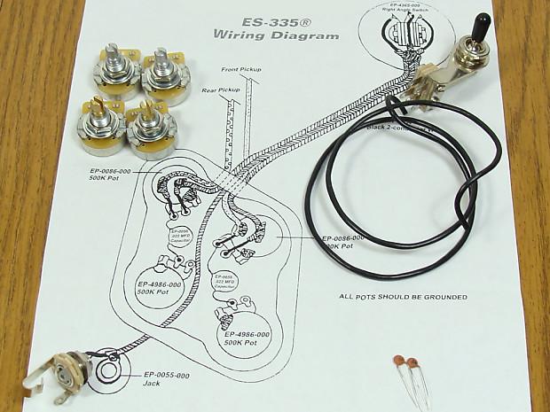 Strange New Es 335 Pots Switch Wiring Kit For Gibson Guitar Reverb Wiring 101 Hisonstrewellnesstrialsorg