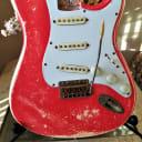 Fender Stratocaster Standard Fiesta Red Custom Nitro Relic Loaded Body