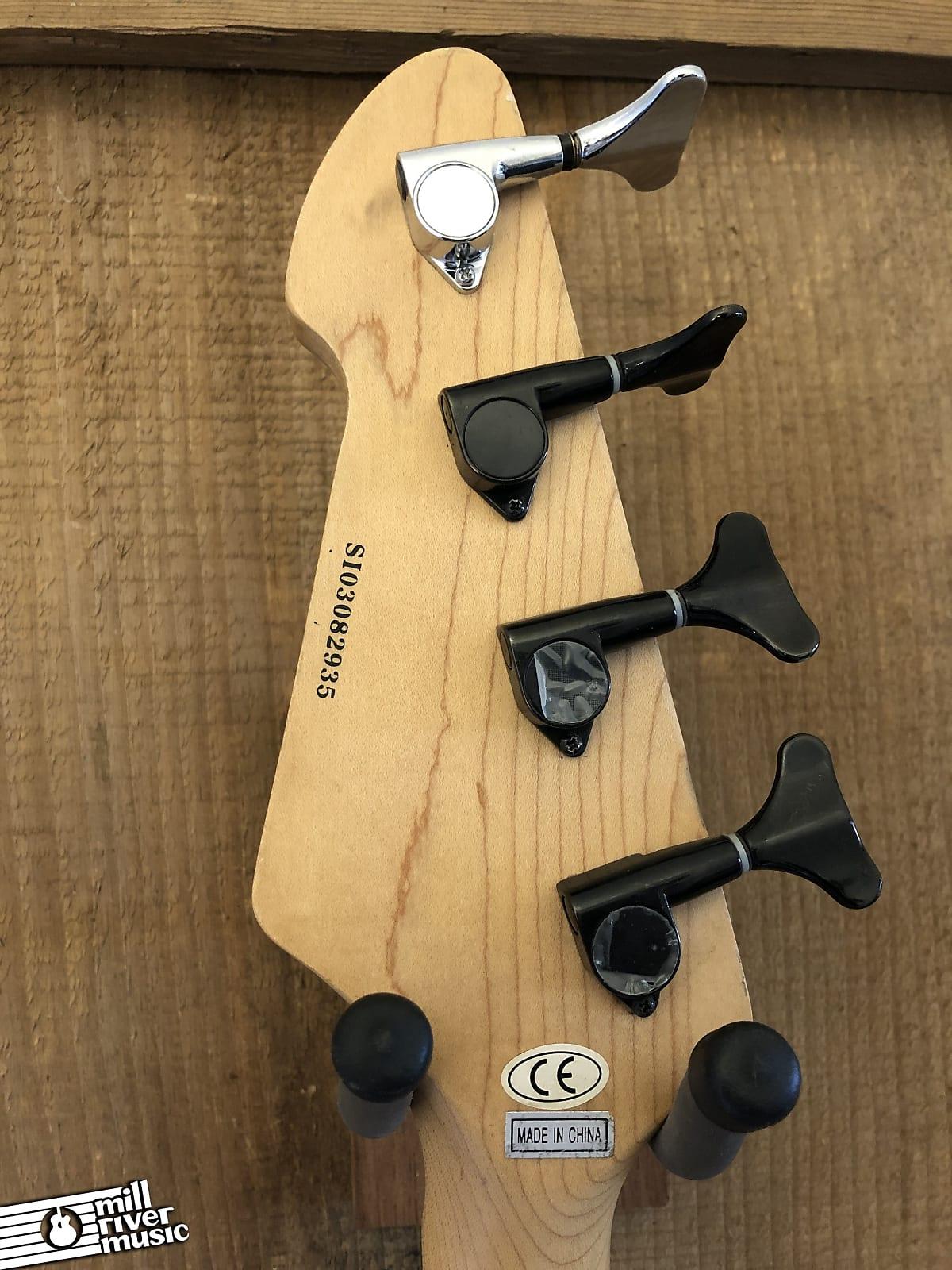 Peavey Millenium BXP 4-String Quilt Top Electric Bass Guitar Sunburst