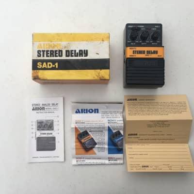Arion SAD-1 Stereo Analog Delay Rare Vintage Guitar Effect Pedal + Original Box for sale