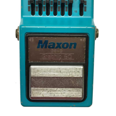 Maxon GE-9, Graphic EQ, Made in Japan, 1981, Vintage Guitar Effect Pedal for sale