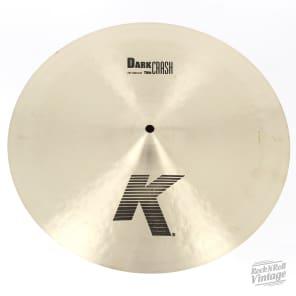 "Zildjian K0902 16"" K Dark Crash Thin - Show Demo"