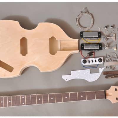 Unbranded Viola  Electric Bass Guitar DIY Kit Natural Unfinished