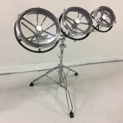 """Remo Roto Toms 6""""/8""""/10"""" Set with stand and extra heads!"""