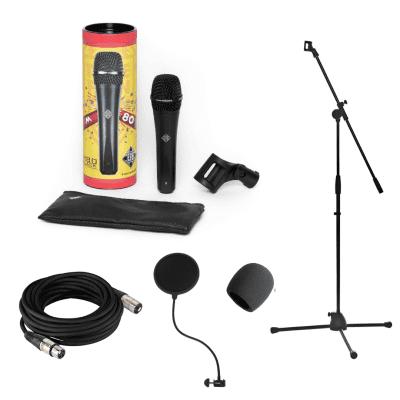 New Telefunken Elektroakustik M80 Black Handheld Supercardioid Dynamic Microphone Recording Bundle