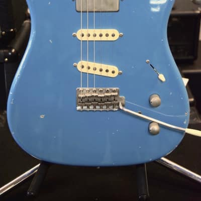 Tausch Guitars 665 RAW 2014 Aged Daphne Blue for sale