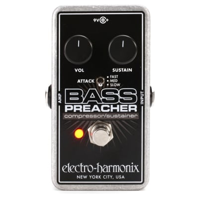 Electro-Harmonix Bass Preacher Compressor/Sustainer Effects Pedal for Bass