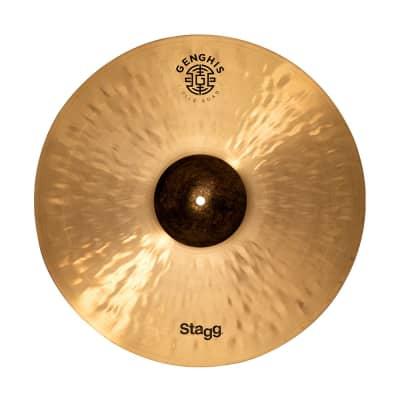 "Stagg Shimmering Exo Series 19"" Genghis Medium Crash Cymbal - GENG-CM19E"