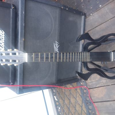 Morelli Electric Silent Guitar Black Classical Acoustic for sale