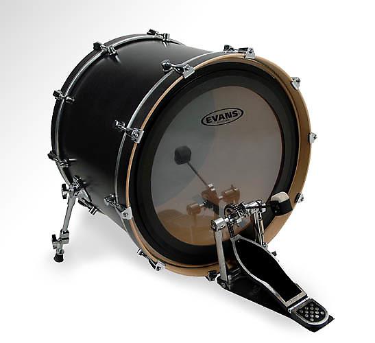 18 evans non level 360 gmad clear batter side bass drum reverb. Black Bedroom Furniture Sets. Home Design Ideas