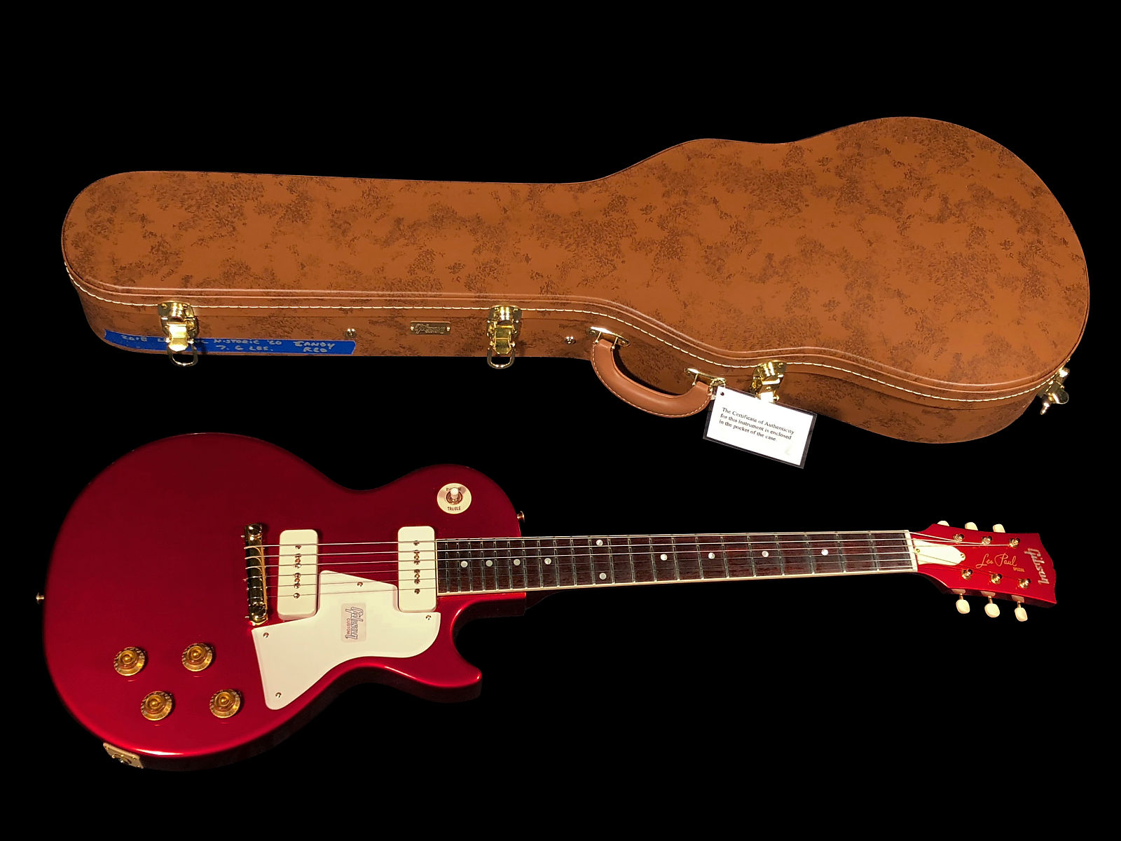 2018 Gibson Les Paul Special SC 1960 Singlecut Custom Shop Historic 60  Gloss ~ Candy Red
