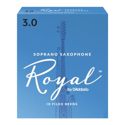 Rico Royal Soprano Saxophone Reeds, Strength 2-1/2, Box of 10