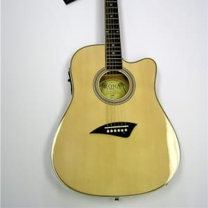 Kona K2 Series Thin Body Electric/Acoustic Guitar - Natural for sale