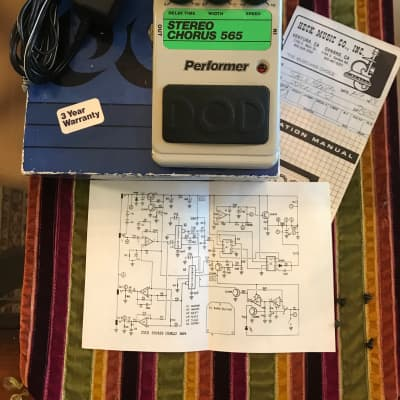 DOD Performer Stereo Chorus 565 1981 Box, manual &power supply for sale