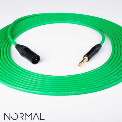 "3/' Canare L-4E6S Quad Balanced Cable Neutrik Gold 1//4/"" TRS to 1//4/"" TRS Green"