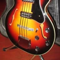 Vintage Circa 1965 Kapa Challenger Hollowbody Bass for sale