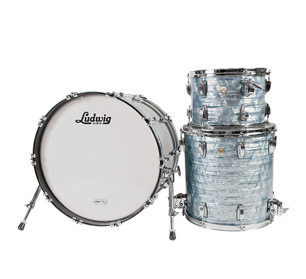 ludwig usa classic maple 3 pc drum kit sky blue pearl w reverb. Black Bedroom Furniture Sets. Home Design Ideas