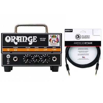 Orange Micro Dark Terror 20w Head w/Tube Preamp Cable Bundle