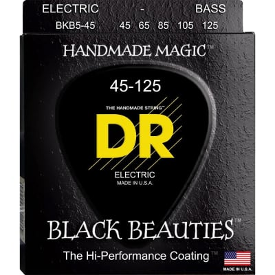 DR BKB5-45 Black Beauty Medium 5 String Bass Strings
