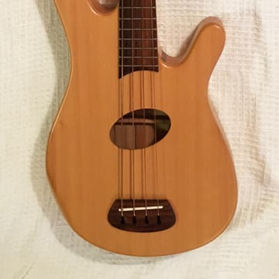 Kinal Kompact short scale acoustic-electric bass guitar for sale