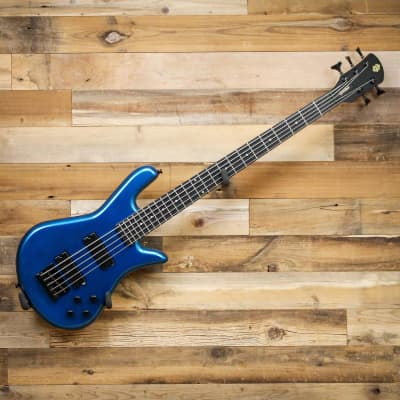 Spector PERF5MBL Performer 5 5-String Electric Bass Guitar Metallic Blue Gloss for sale