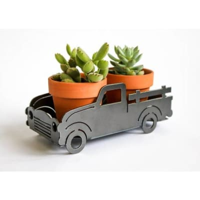 Iron Maid Art Truck Metal Planter