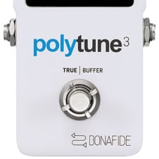 TC Electronic Polytune 3 Polyphonic Guitar Tuner Pedal built in Bonafide Buffer NEW