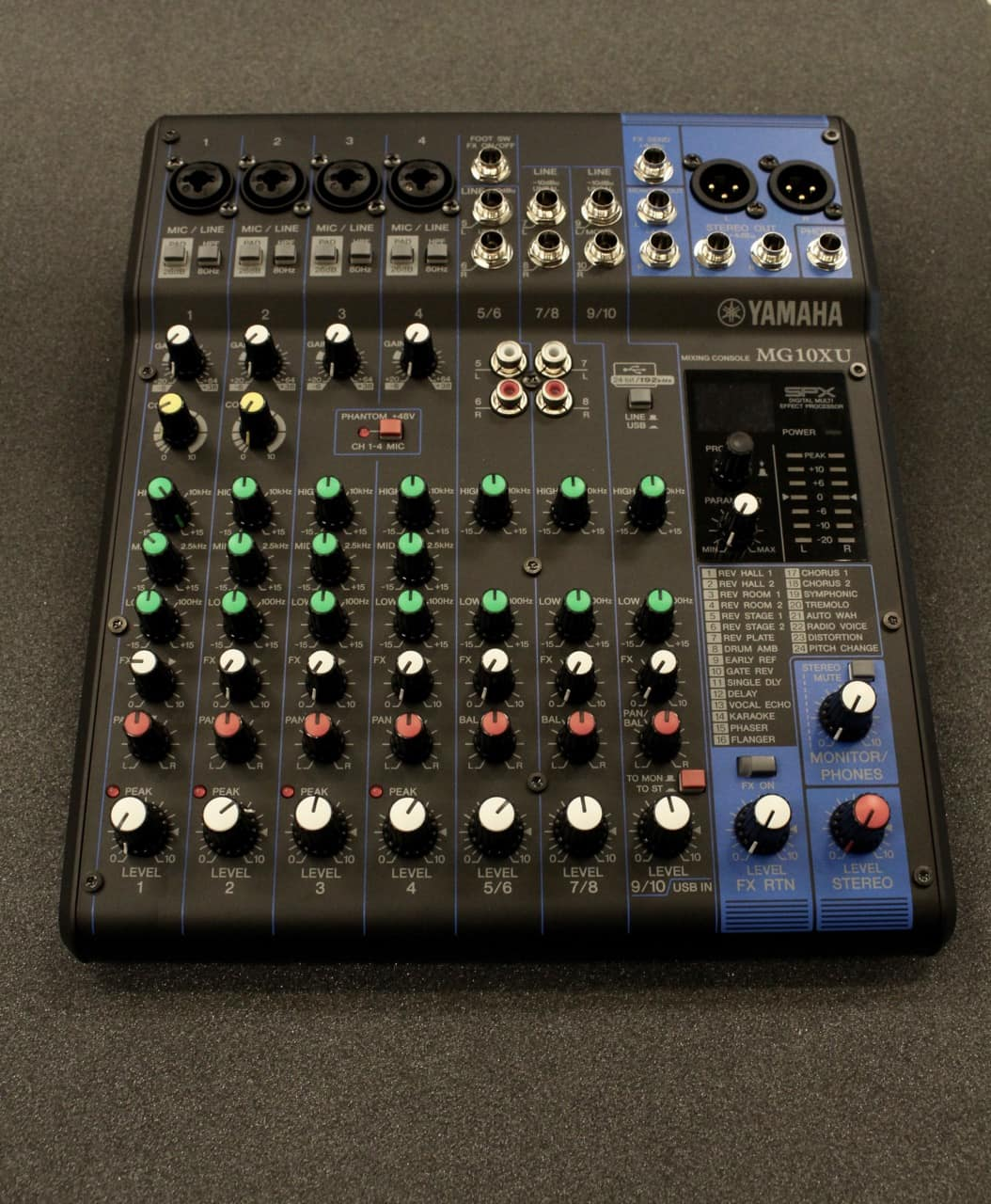 Yamaha mg10xu mixer music land reverb for Yamaha mg10xu review