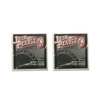 John Pearse Banjo Strings 3 Pack 80/20 Bronze Wound Light Gauge Extra Long