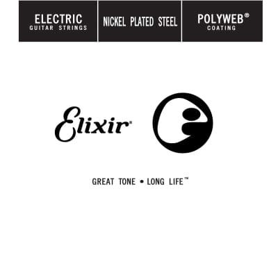 Elixir 13224 Electric Nickel Plated Steel Polyweb Single
