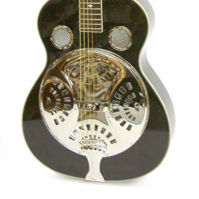 Crestwood FG801 Resonator Guitar 3 ply binding Aluminum Resonator Free Shipping for sale