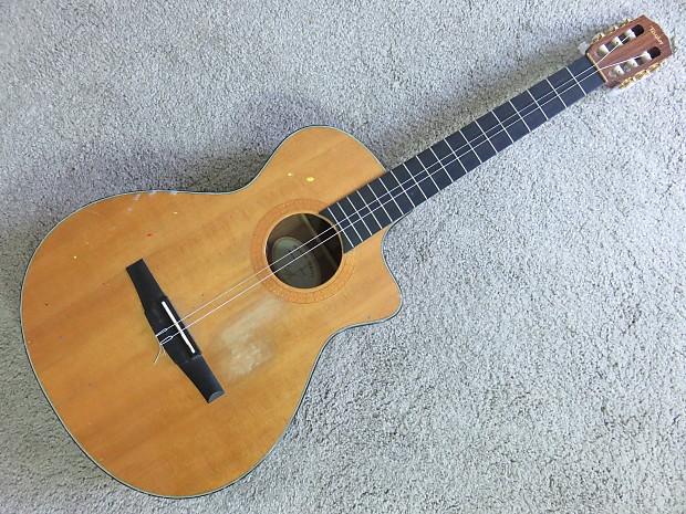 taylor ns32ce nylon acoustic electric guitar has neck crack reverb. Black Bedroom Furniture Sets. Home Design Ideas