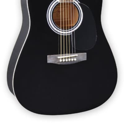 Jay Turser JJ45-PAK-BK Full Size JJ-45 Series Acoustic Guitar Pack w/Gig Bag,Tuner, Strap & Picks for sale