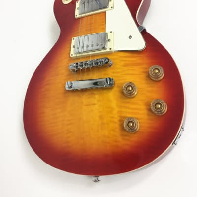 Haze 277THS Flame Maple Cherry Solid Body Electric Guitar,Sunbust+Free Gig Bag,tuner,Strap,Pick for sale