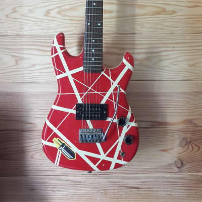 Memphis Van Halen Frankenstrat Copy C. 1980 Red for sale