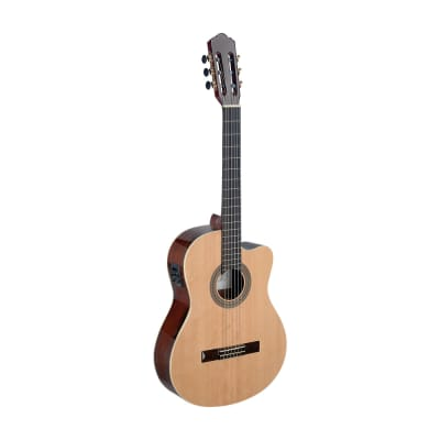 Angel Lopez Cereza series cutaway acoustic-electric classical guitar w/ solid spruce top for sale