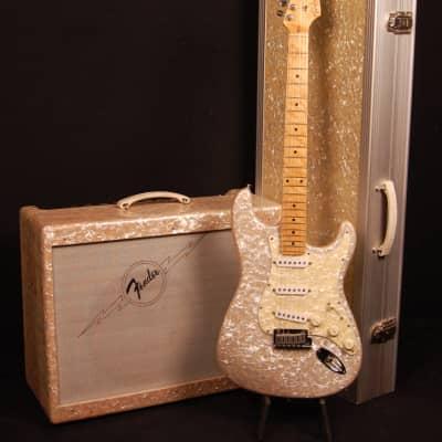 Fender Custom Shop White Moto Stratocaster and Amp Set #114 of 250