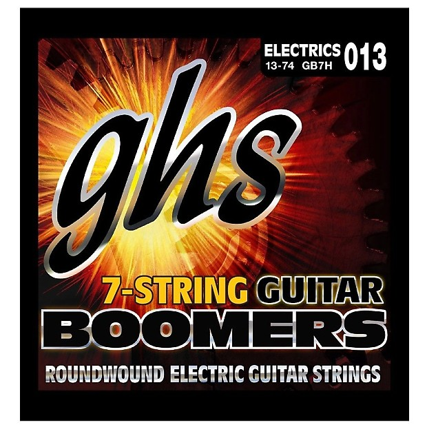 ghs strings gb7h boomers 7 string heavy electric guitar reverb. Black Bedroom Furniture Sets. Home Design Ideas