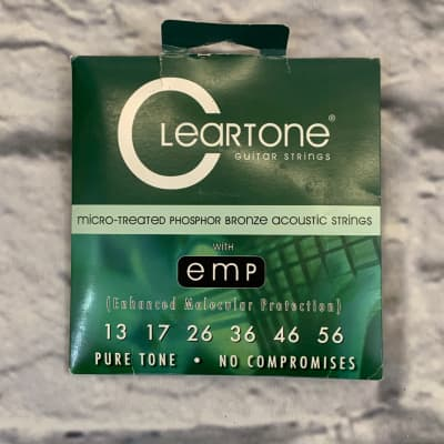 Cleartone Micro-Treated Phospher Bronze 13-56 Acoustic Guitar Strings