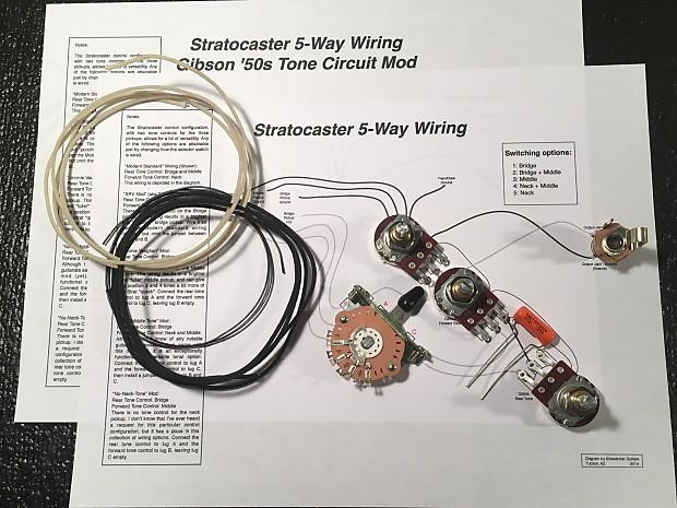 sidewinder guitars stratocaster wiring kit reverb. Black Bedroom Furniture Sets. Home Design Ideas