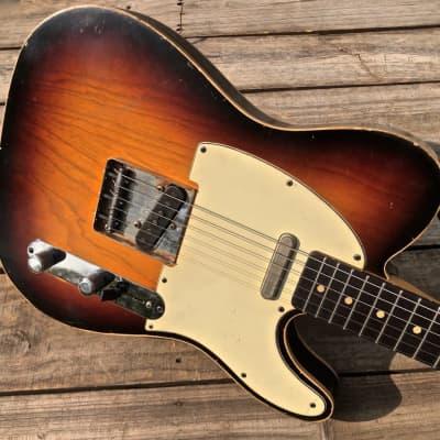 Danocaster Double Bound Single Cut Sunburst Electric Guitar - 2 Piece Ash & Dano Budz 2.0 Pickups for sale